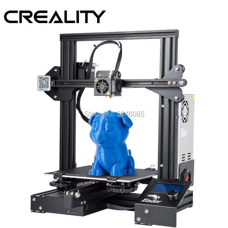 US $199 0 60% OFF|CREALITY 3D Printer Ender 3/Ender 3X Upgraded Tempered  Glass Optional,V slot Resume Power Failure Printing DIY KIT Hotbed-in 3D