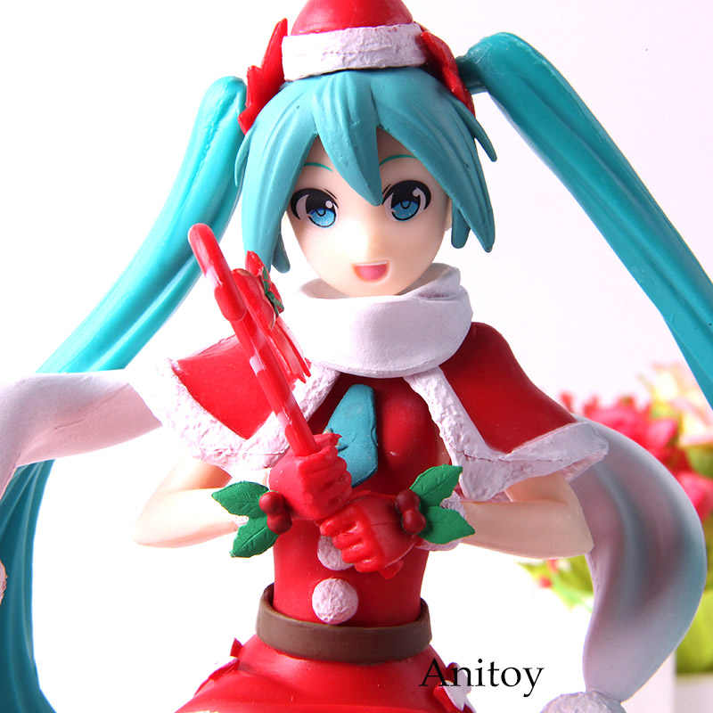 Christmas Hatsune Miku.Super Premium Figure Hatsune Miku Christmas 2018 Miku Hatsune Figure Action Collection Model Toys