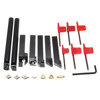 DANIU 7pcs 16mm Shank Lathe Turning Tool Holder Boring Bar CNC Tools Set With Carbide Inserts And Wrenches High Quality