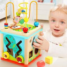 Дети деревянный сундук с сокровищами бусины головоломки Развивающие игрушки подарки украшения ребенка раннего учебные принадлежности