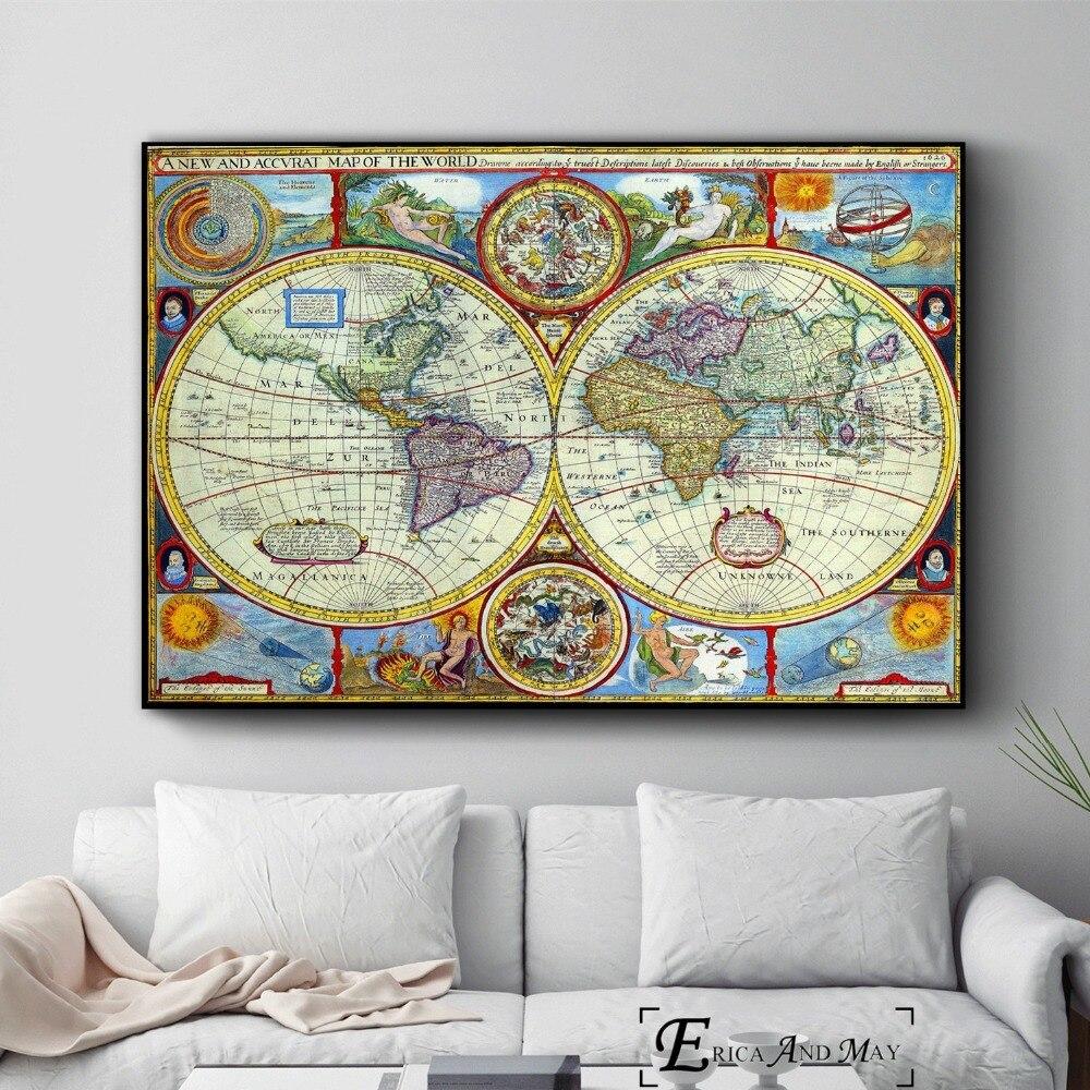 постеры с изображением карт