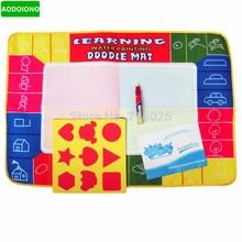 74X50 см, 4 цвета, водный коврик для рисования, коврик для акварели+ 1 волшебная ручка/доска для рисования водой/водный коврик для обучения и обучения ребенка
