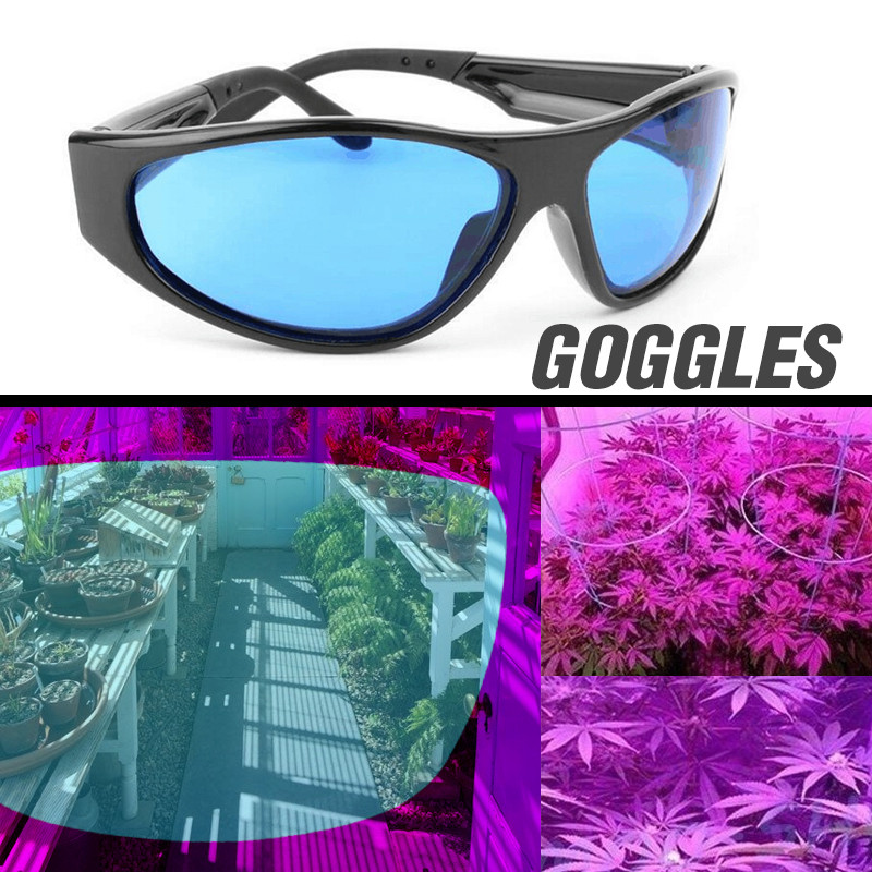 LED Grow Room Glasses Anti-glare Anti-UV Green/Blue Lens Glasses For Tent Greenhouse Hydroponics Plant Light Eye Protect Glasses