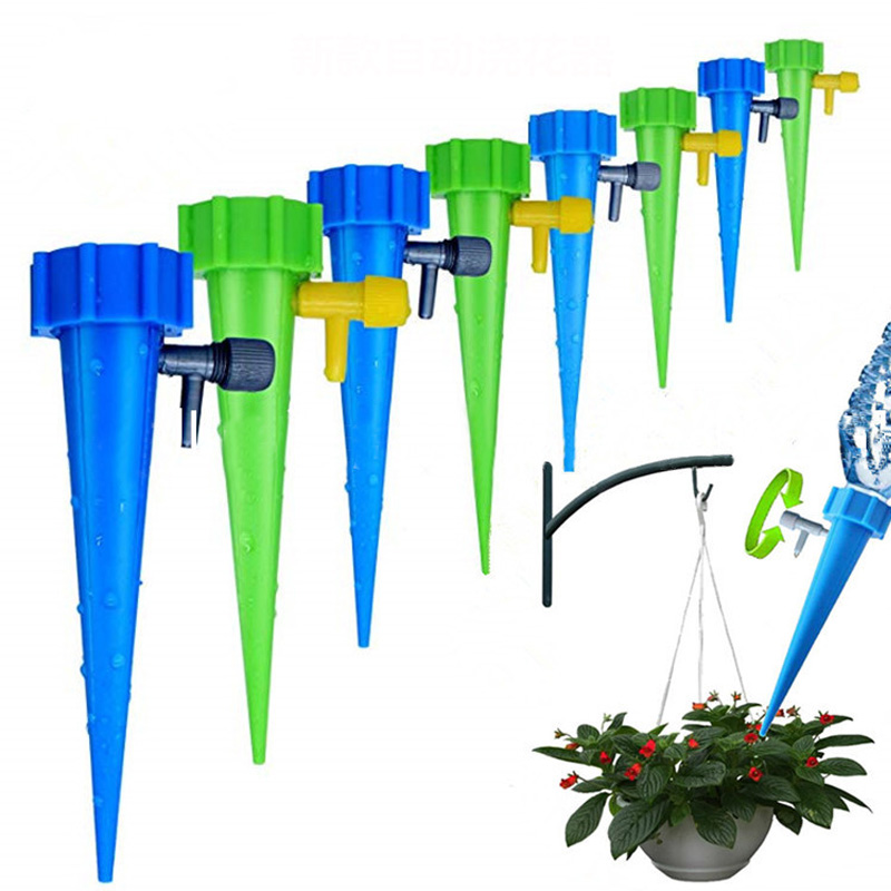Garden Water Houseplant Plant Pot Automatic Watering Water Cans 6 Pcs Plant Spikes Watering Irrigation Adjustable Stakes System