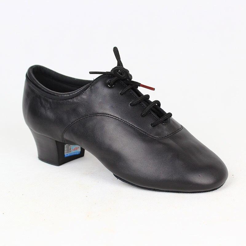 Dancesport Shoes BD 417 Dance Shoe Men Latin Ballroom Soft Leather Split Outsole Dance Shoes Samba