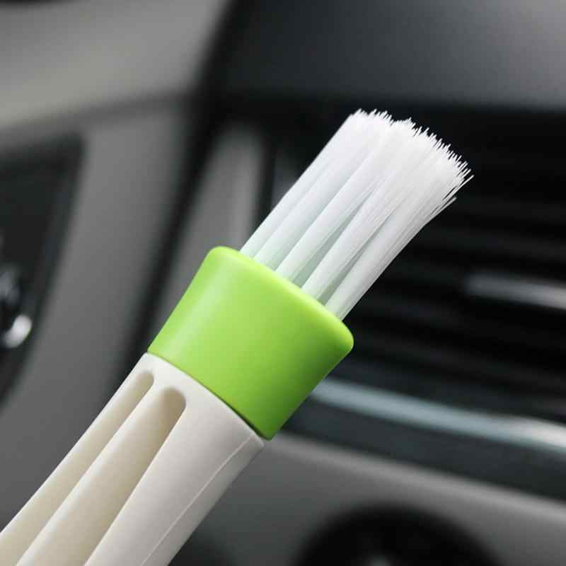 Double Ended Auto Airconditioner Vent Stof Slit Cleaner Brush Console instrument Venster Afstoffen Blind auto-interieur Schoon Borstel