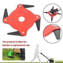 Garden Lawn Mower Blade Durable Manganese Steel Grass Trimmer Four Leaf Cutting Blades Grass Cutter стоимость