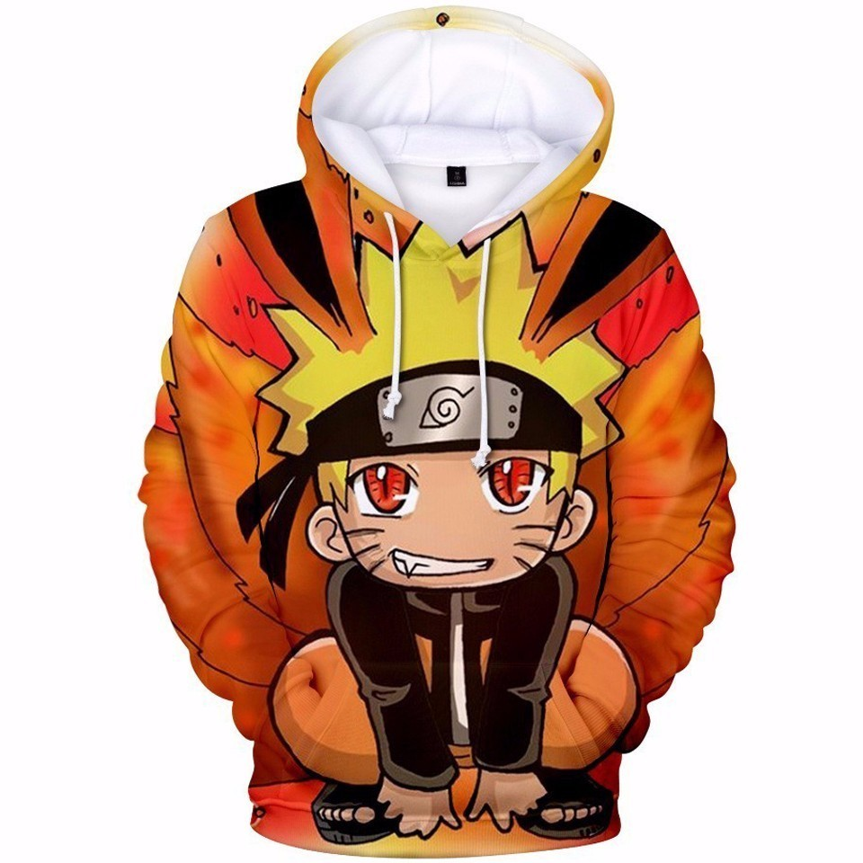 Naruto 3D Printed Hoodies Women Men Long Sleeve Casual Sweatshirts Uzumaki Naruto Uchiha Sasuke Cosplay Outerwear Pullovers