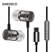 EARDECO  Type C Wired Headphones for Phone In Ear Earphones Headsets For Mobile Type-C With Microphone Wire Earbud Iphone