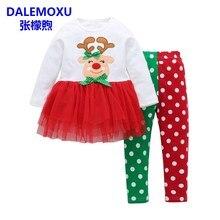 d4b5e12057526 Nouveau-né Vêtements Bébé Filles Vêtements Mis Mon Premier Noël Élans Bébé  Vêtements Set Enfant Tutu Robe + Pantalon Bébé Vêteme.