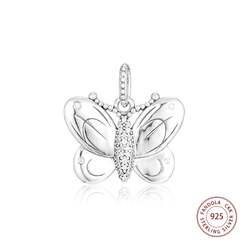 2019 Spring 925 Sterling Silver Decorative Butterfly Dangle Charm Beads Fits Original Bracelet Argent Charm Silver 925 Jewelry2019 Spring 925 Sterling Silver Decorative Butterfly Dangle Charm Beads Fits Original Bracelet Argent Charm Silver 925 Jewelry