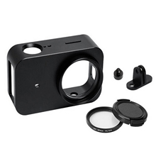 Top Cnc Aluminum Alloy Protective Case For Xiaomi Mijia Camera Cage Mount With 37mm Uv Lens For Mijia 4K Mini Sport Camera