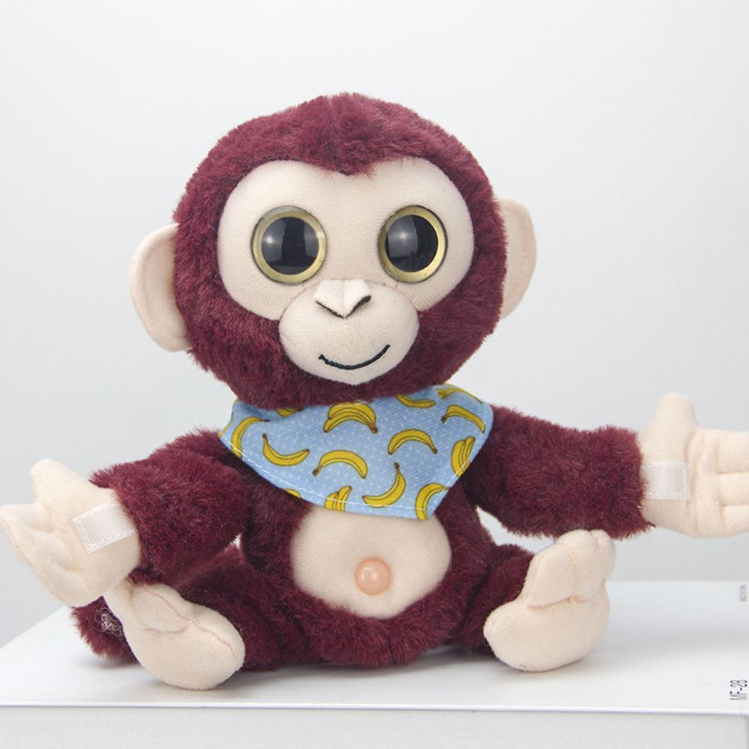 Creative Mimicry Pet Talking Monkey Repeats What You Say Electronic Plush Toy Cute Kawaii Soft Sleep Birthday Gift 3