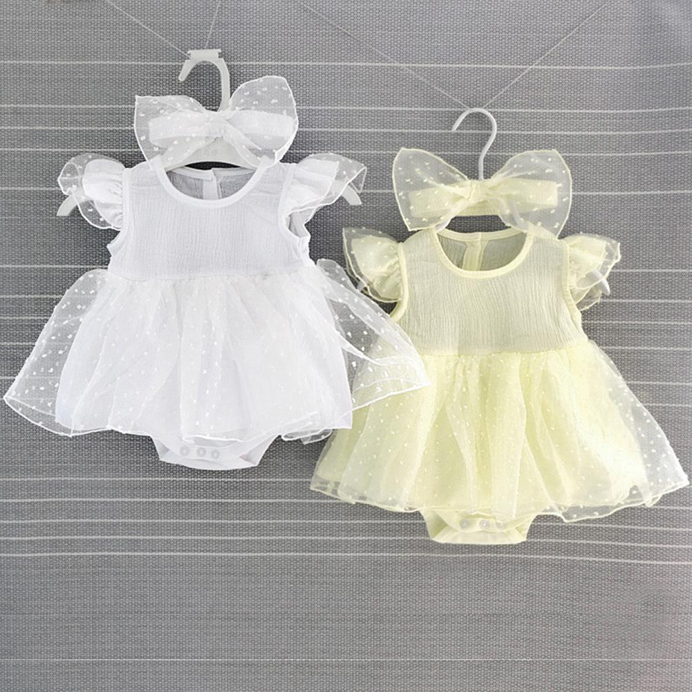 Kidlove Overall Hairband Kleid Set Neue Geboren Baby Mädchen Infant Kleid Kleidung Sommer Kinder Party Geburtstag Outfits Set