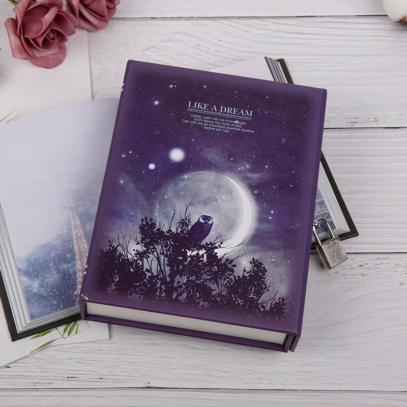 Luxury Traveler Cute Notebook Diary Planner Journal Lock Box Gift Package School Supplies Agenda