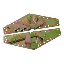 2pcs Butterfly Shape Dual Use Adjustable Spring Sofa Bed Hinges Furniture Hardware Fittings