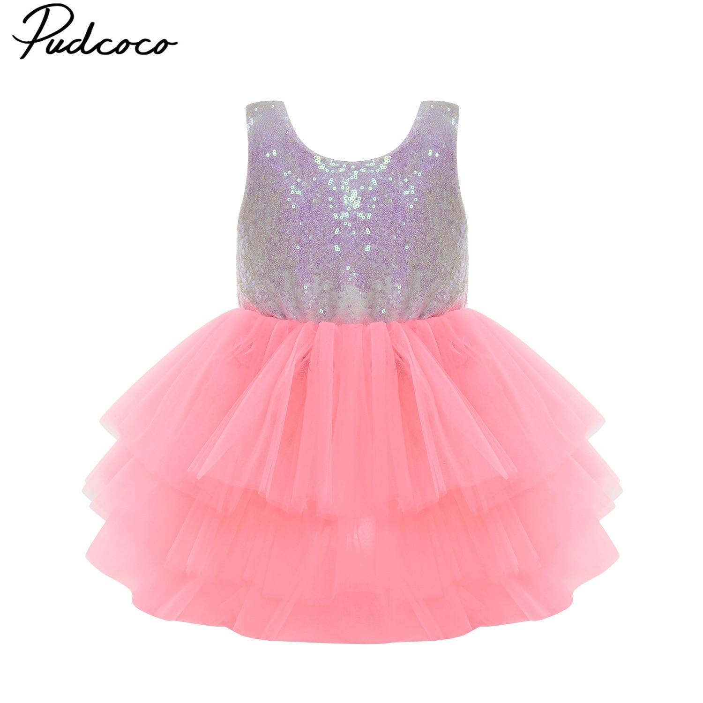 Toddler Kids Baby Girl Princess Dress Party Pageant Wedding Tulle Tutu Dress US