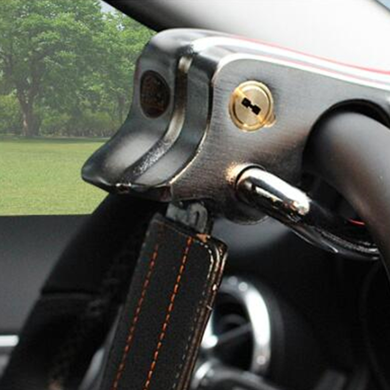 Foldable Vehicle Car Lock Top Mount Steering Wheel Anti Theft Security Airbag With Keys Anti-Theft Devices