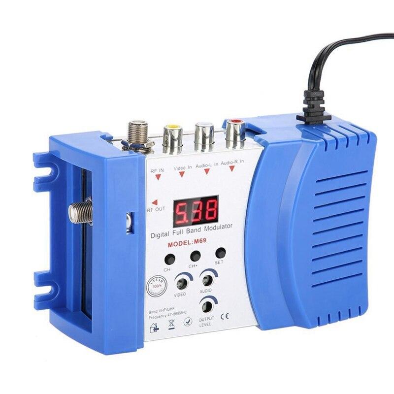 Professional Digital Vhf Uhf Rf Modulator Av To Rf Avto Tv Converter Adapter