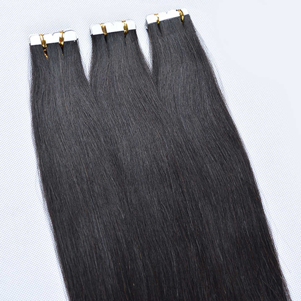 100% Unprocessed Human Hair Wigs Original Virgin Hair Straight Black Wigs Seamless Hair Extension Natural Color 45-80cm