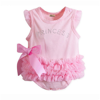 Infant Baby Girl Princess Lace Sleeveless Romper Jumpsuit Clothing Outfits Set New Hot Sale Cotton G