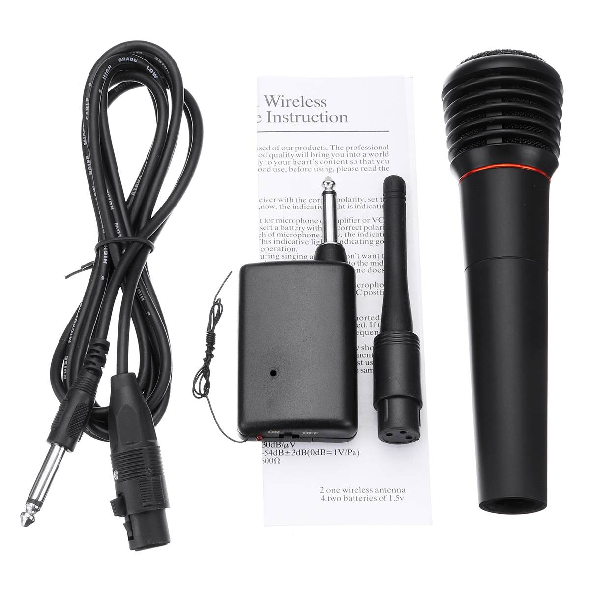Dynamic Handheld Microphone 2.5m Lead PA DJ Vocal Mic Home Party Karaoke Wired