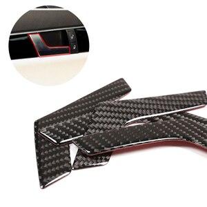Image 1 - メルセデス · ベンツ c クラス W204 2005 2006 2007 2008 2009 2010 2011 2012 4 個の炭素繊維車のインテリアドアハンドルフレームカバー