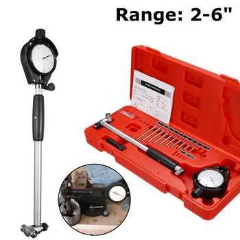 "Engine Cylinder 2-6"" Grad 0.0005 inch Dial Bore Gauge Steel + ABS Measuring Indicator Resolution Measuring & Gauging Tools"