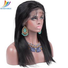 hot deal buy    straight natural color full lace wig human hair malaysian remy lace wigs baby hair pre plucked hairline 130 150 180 density