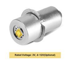 1 шт. P13.5S база 3 Вт Высокая мощность СВЕТОДИОДНЫЙ обновленная Лампа вспышка светильник замена лампы фонарь лампа Аварийный Рабочий светильник для Maglite