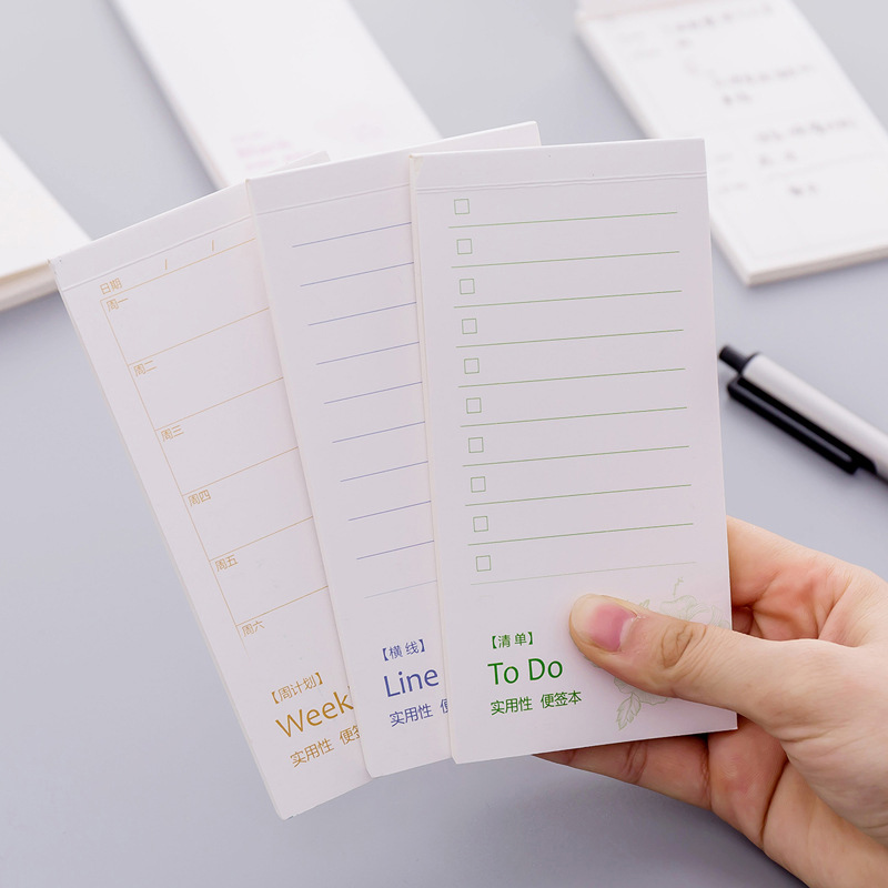 To Do List Memo Pad Cute Grid Paper Sticky Notes Kawaii Writing Pads For Daily Weekly Planner Office School Supplies Stationery