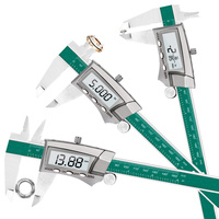 DANIU Digital Display Stainless Steel Caliper 0 150MM 1/64 Fraction / Inch / Millimeter IP54 Waterproof High precision 0.01MM