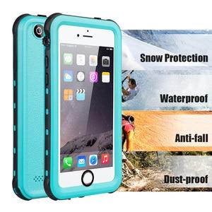 Image 2 - IP68 מקרה עמיד למים עבור iPhone 7 8 שחייה צלילה חיצוני עמיד הלם כיסוי עבור iPhone 5S SE 2020 6S 7P 8 בתוספת הגנה מלאה