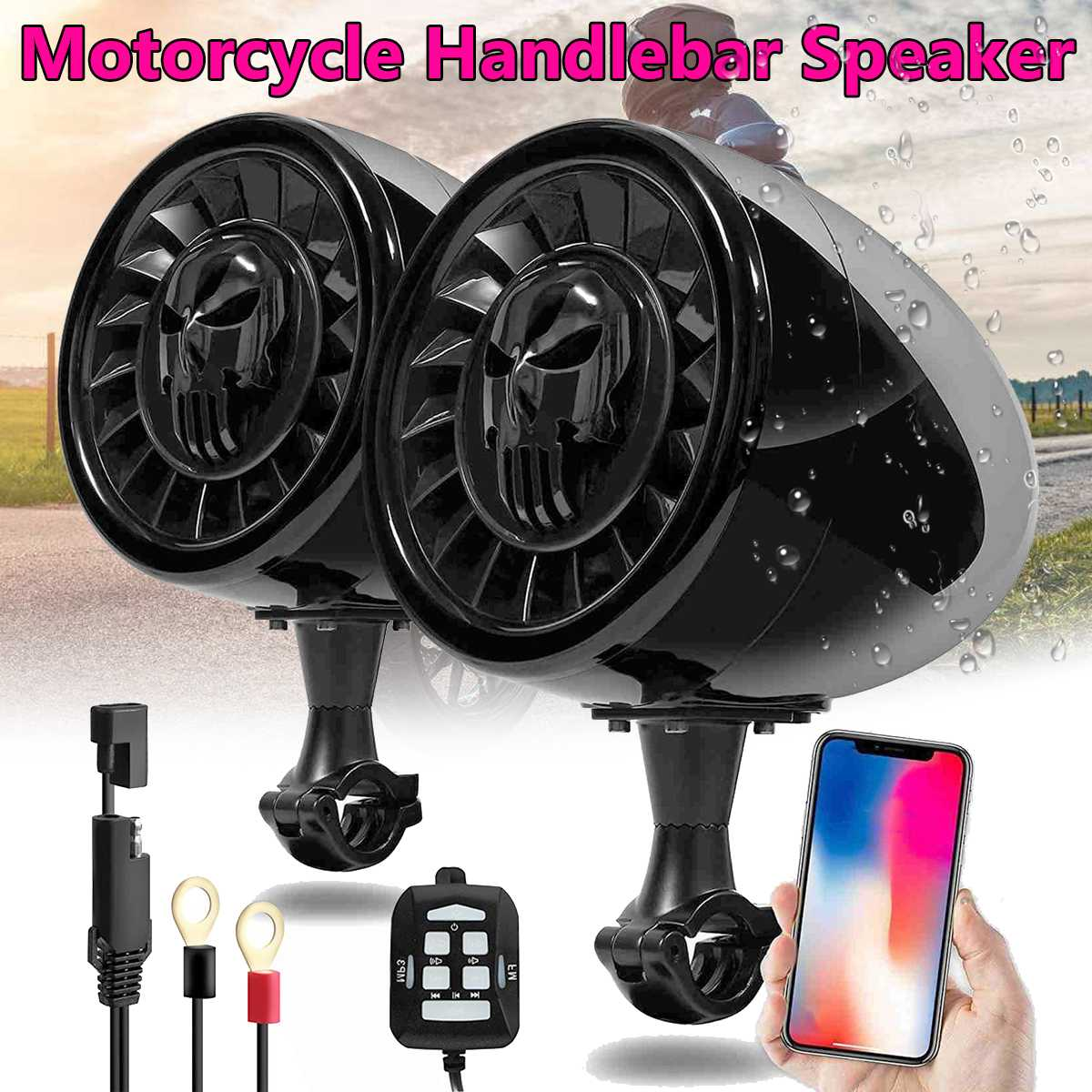 600W MP3 Music Audio Player bluetooth Speakers For Motorcycle Waterproof Portable Stereo Motos Handlebar Audio Amp System600W MP3 Music Audio Player bluetooth Speakers For Motorcycle Waterproof Portable Stereo Motos Handlebar Audio Amp System