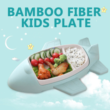 Baby Dishes Food Container Bamboo Fiber Bowl Baby Tableware Dinnerware Toddler Kids Feeding Cartoon Dinner Bowls Can Custom LOGO 1 set baby feeding bamboo fiber cartoon tableware dishes food container bowl cup plates sets for infant baby kids plate