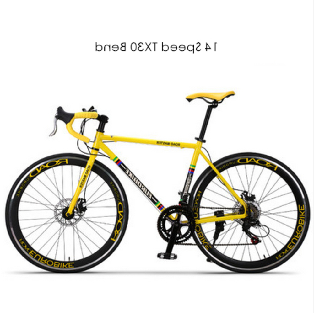 New Brand 700c Aluminum Alloy Frame 14/27 Speed Disc Brake Road Bike Outdoor Sport Racing Bicicleta Cycling Break Wind Bicycle image