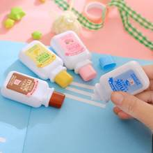 Ellen Brook 1 Piece Cute Kawaii Cartoom Milk Bottle Correction Tape Stationery Office School Supplies(China)