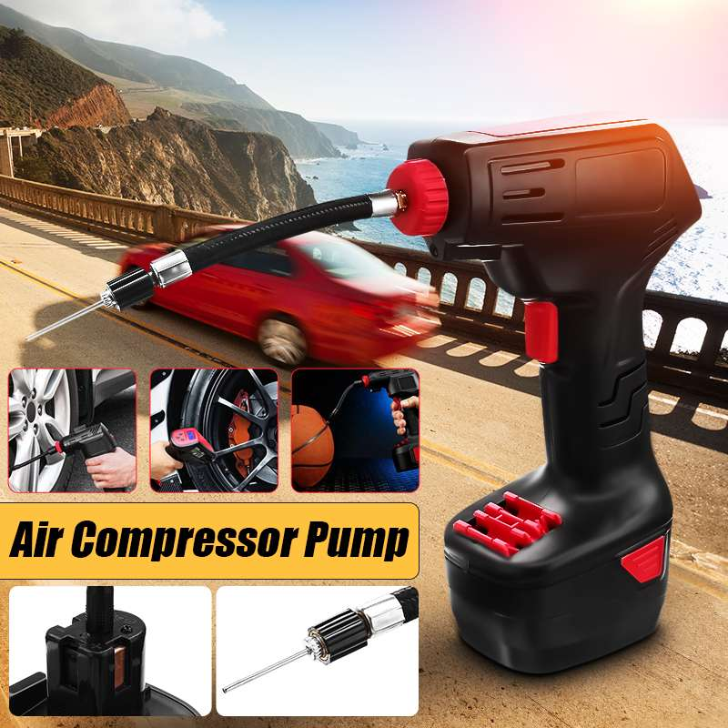 Hot Rechargeable Handheld Car Air Compressor Electric Tire Inflatable Pump Wireless Air Pump Emergency Inflator EU Plug/US Plug