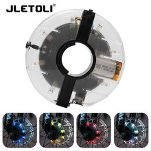 цена на JLETOLI USB Rechargeable Bicycle Hubs Light Led Bike Spoke Wheel Warning Light Waterproof Night Riding Cycling Accessories
