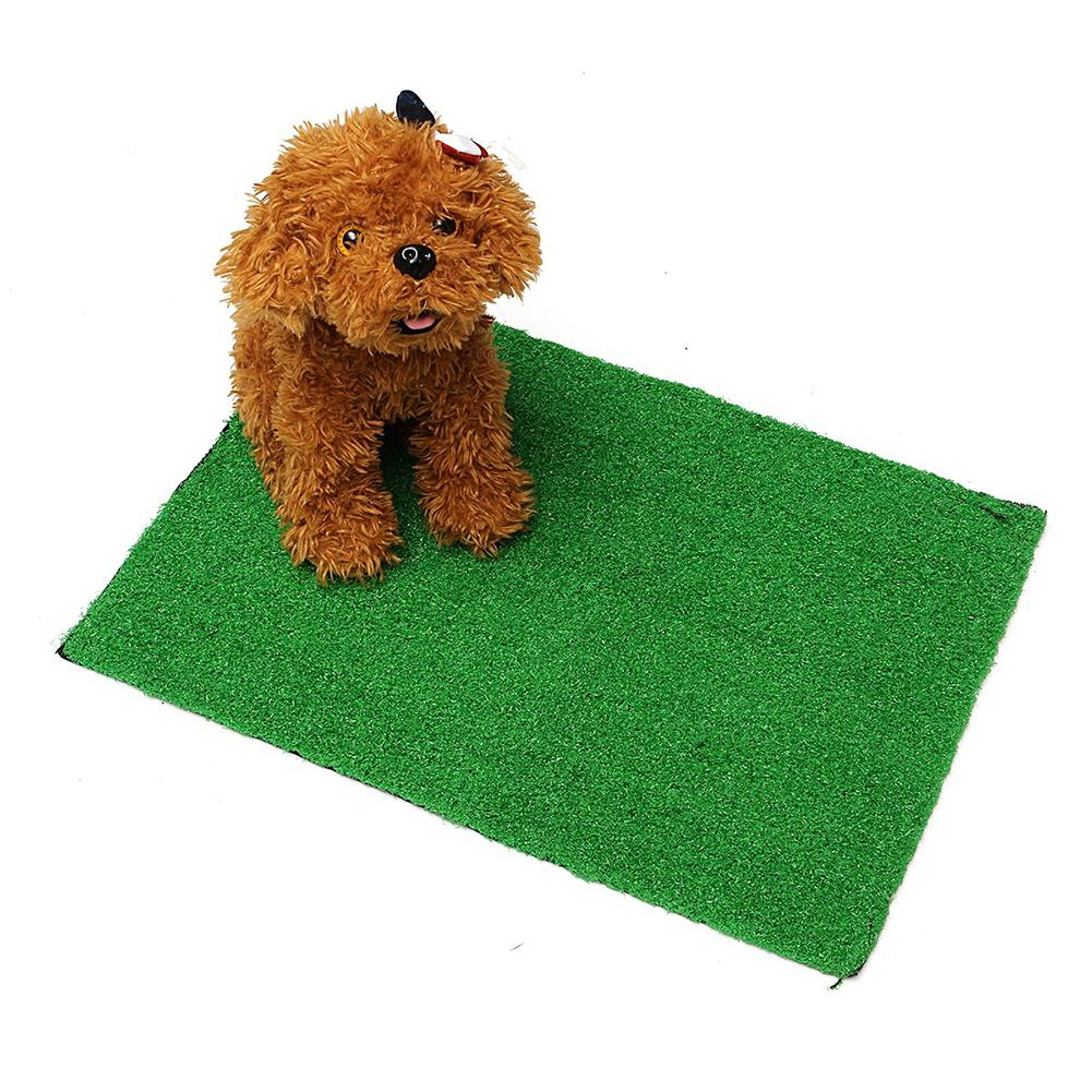 Saideng Pet Dog Cat Artificial Grass Toilet Mat Indoor Potty Trainer Grass Turf Pad Pet Supplies