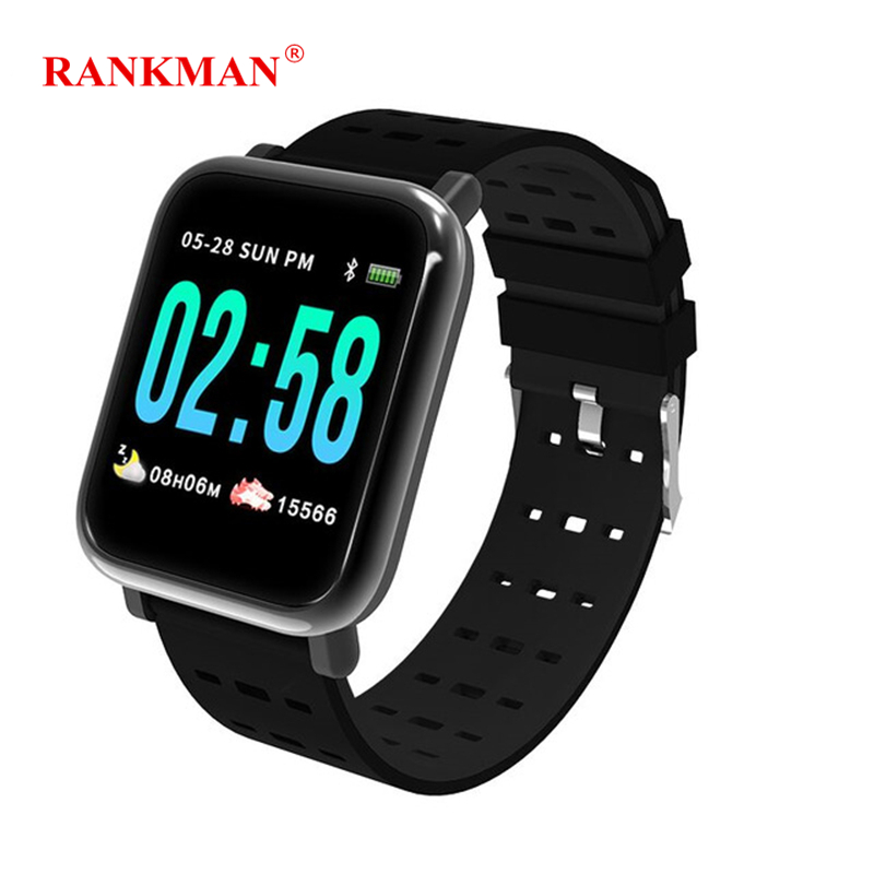 Rankman Smart Watch Fitness Steps Band Heart Rate Monitor Tracker Remove Camera Message Push Smartwatch Bracelet for Men Women