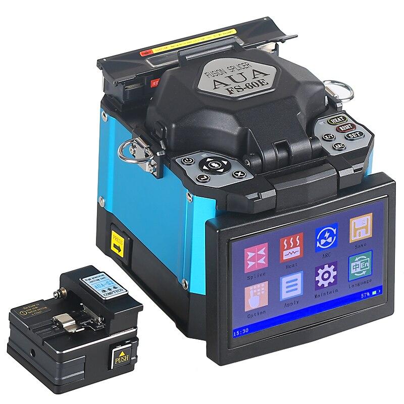 2019 Nova promoção do produto AUA FTTH De Fibra Óptica Splicer Fusão de Fibra Óptica Máquina de Emenda da Soldadura FS-60E