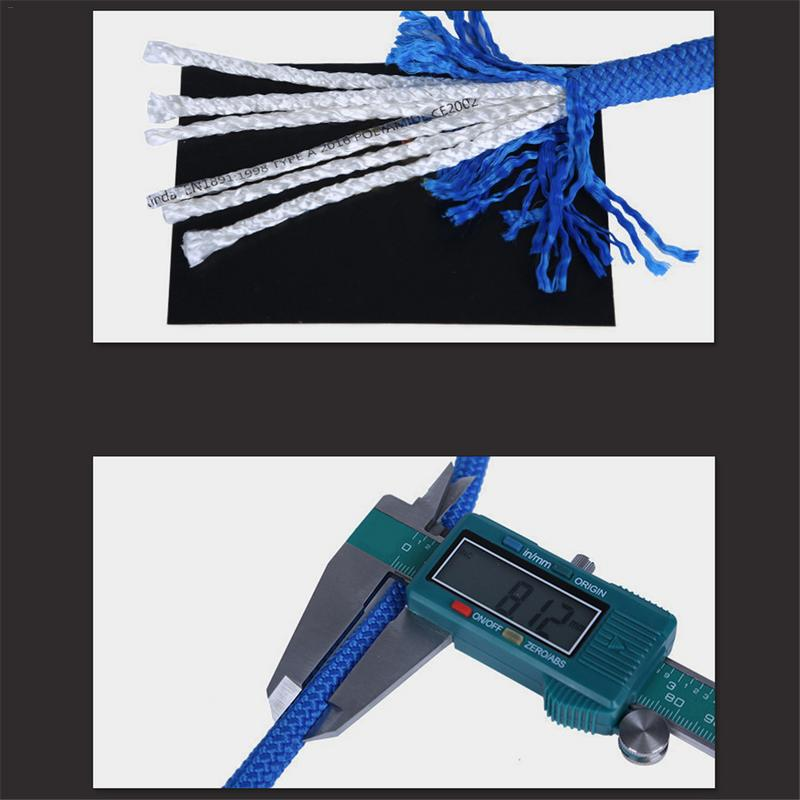 Rope Rope 8mm Outdoor Rescue Rope Climbing Dropping Black Low-Stretch Rope Speed