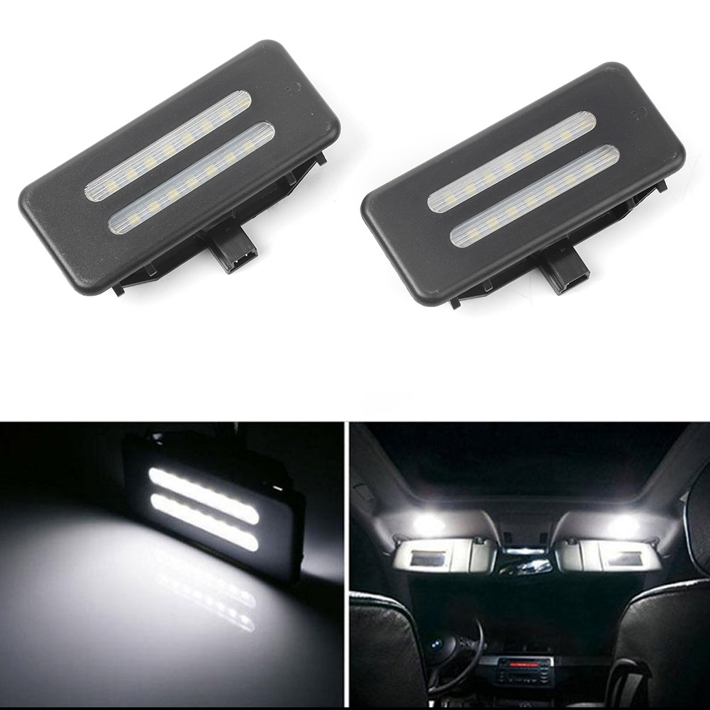 White Error Free LED Vanity Car Front Interior Lights Lamp For <font><b>BMW</b></font> E90 E91 3 <font><b>Series</b></font> SedanWagon /E92 Coupe & <font><b>E60</b></font> E61 <font><b>5</b></font> <font><b>Series</b></font> etc image