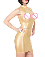 Sexy Sleeveless Latex Dress Rubber Dress Latex Minikleid
