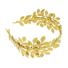 1PC Women Golden Bridal Headband Vintage Wedding Baroque Stylish Olive Leaf Hair Band Headdress Accessories