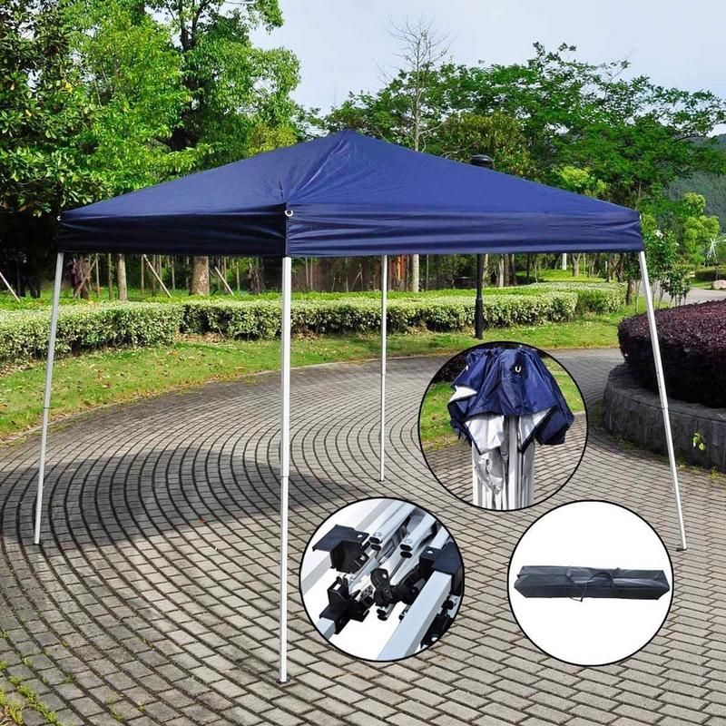 2.5 X 2.5M Blue Home Folding Pergola Oblique Foldable Easy To Install Foot Pergola Advertising Tent Waterproof Sunscreen2.5 X 2.5M Blue Home Folding Pergola Oblique Foldable Easy To Install Foot Pergola Advertising Tent Waterproof Sunscreen