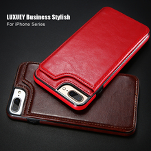 KISSCASE PU Leather Wallet Case for iPhone 6 6s 7 8 Plus Flip Card Slot Luxury Phone Samsung S7 Edge Galaxy S8 S9