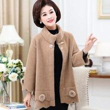 купить Autumn Winter New Women Cardigan Stand Collar Long Sleeve Casual Sweaters Female Solid Plus Size Loose Coat дешево