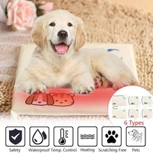 Dogs Cats Heating Pad 220V 20W/30W/35W 3/10 Gear S/M/L Waterproof Electric Pets Blanket Warmer Bed Mat Cotton Waterproof Home(China)